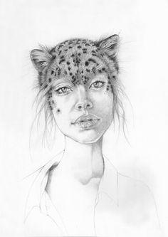 Manimals by Jessie Holmes, via Behance #illustration #art