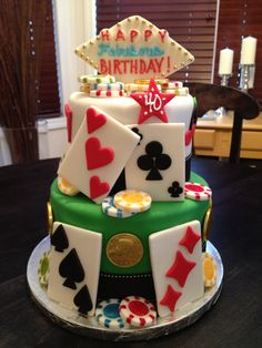 Because… If you've ever been scammed or let down by dodgy betting systems or backtested Forex strategies in your pursuit of the answer to your financial prayers. Casino Theme Parties, Casino Party, Unique Cakes, Creative Cakes, Cupcakes, Cupcake Cakes, Vegas Cake, Poker Cake, Casino Cakes