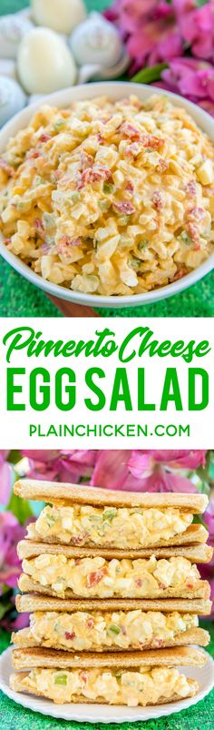 The Masters Pimento Cheese Egg Salad - the best of both worlds! Can't decide which Masters sandwich is your favorite? Combine them both into one! Seriously DELICIOUS!! : plainchicken