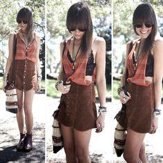 Evil Twin Top, Minkpink Skirt, Market Hq Carpet Bag, American Apparel Vintage Sunnies, Staple Bralette, Rm Williams Boots