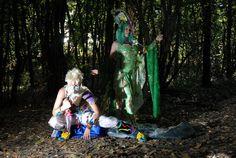 Videogame: Final Fantasy. Character: Rydia & Edge. Cosplayers: Giulia Presti & Veronica Ceccherini 'aka' TidusSyrua. From: Italy. Event: Cartoomics 2010. Photo:Sandro Sebastiani.