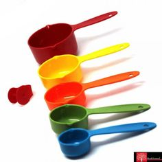 Red Forest Multi Color Measuring Cups - 5pc