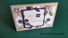 """Geburtstagskarte mit dem Stempelset """"Garden in Bloom"""" ~ Kreiere mit Liebe - Stempeln, Stanzen, Prägen und Co."""