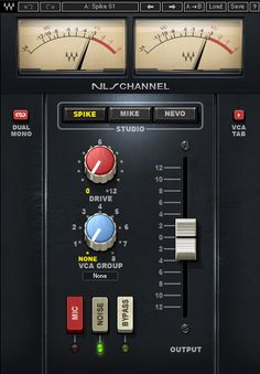 NLS Non-Linear Summer plugin delivers the ultimate analog summing sound in-the-box, featuring three legendary virtual consoles with over 100 individually modeled channels in all. Waves Audio, Sound Waves, Virtual Studio, Music Software, Types Of Buttons, Audio Sound, Tabata, User Interface, Button Type