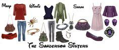 The Sanderson Sisters from Hocus Pocus! The Sanderson Sisters from Hocus Pocus! Disney Inspired Outfits, Disney Outfits, Disney Style, Cute Outfits, Disney Clothes, Salem Halloween, Halloween Costumes, Halloween 2014, Halloween Ideas