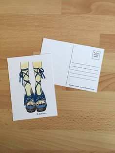 Items similar to Espridrilles Illustrated Limited Edition Postcard on Etsy Shoe Illustration, Postcard Wall, Boho Fashion, My Etsy Shop, Stamp, Trending Outfits, Unique Jewelry, Handmade Gifts, Vintage