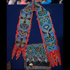 purported bandolier bag of Cherokee Chief Tucquao, ca 1820