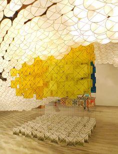 Jacob Hashimoto_Gas Giant paper kite installation