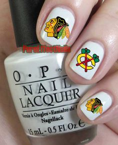 Hey, I found this really awesome Etsy listing at https://www.etsy.com/listing/168745732/chicago-blackhawks-nail-decals