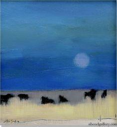 "Six Cows by Elsa Sroka Oil ~ 8"" x 7.5"""