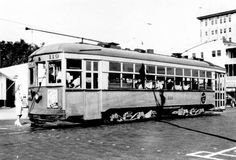 Trolley car - St. Petersburg, Florida ~ 1930's
