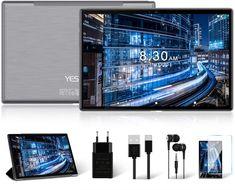 YESTEL T5 tablet 10 pollici è dotato di un sistema Android 10.0 più stabile e a basso consumo energetico. Supporta la maggior parte delle applicazioni di Google Play Store, come SKY GO, NOW TV, NETFLIX, ecc.Supporta anche lo sblocco con Face ID. Con una CPU a otto core da 1,6 GHz, offre un'efficienza di elaborazione più veloce di immagini, video, audio e software, consentendo al tablet di rispondere istantaneamente a ogni clic e scorrimento. Tablet Cover, Tablet 10, Social Games, Wifi, Beautiful Gift Boxes, Sd Card, Kids Gifts, Charger, Video