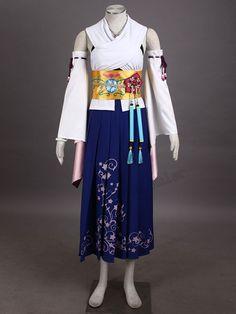 Pas cher EXCLUSIF Final Fantasy X FF10 Yuna Summoner Cosplay Costume, Acheter Habits de qualité directement des fournisseurs de Chine:pointEXCLUSIF Final Fantasy X FF10 Yuna Summoner Cosplay Costumecomprennentcomprennent ensemble sauf la perruque e