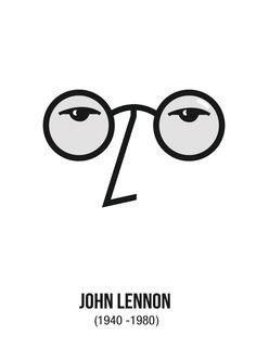 john lennon - minimal art
