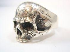 Ezi Zino Crack cráneo anillo plata esterlina 925 de por silver999
