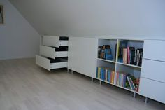Loft Spaces, My Room, Bookcase, Triangle, Weird, Shelves, Home Decor, Attic Spaces, Wardrobes