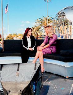 Priscilla Presley visits Extra at Universal Studios in Los Angeles, CA., November 1, 2016.