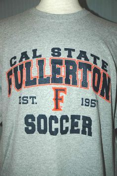 Cal State Fullerton University Soccer Adult XL Gray T-Shirt (X-Large Champions) #RivalMadness