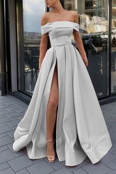 Silver evening gowns,long prom dresses,sexy off shoulder dress Silver . Read more The post Silver evening gowns,long prom dresses,sexy off shoulder dress appeared first on How To Be Trendy. Pretty Prom Dresses, A Line Prom Dresses, Ball Dresses, Sexy Dresses, Ball Gowns, Wedding Dresses, Summer Dresses, Party Dresses, Dress Prom