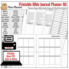 Editable Bible Journal Kit for Bible journaling in Happy Planner type pages this post explains the common things people misunderstand about Bible journaling.