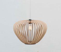 wood lamp - wooden light - hanging wooden lamp - pendant lights - kitchen lamp - lamp 'Tokyo S'