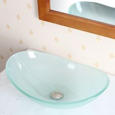 Add a stylish touch to your bathroom with this vessel sink from CAE. A lovely glass construction highlights this durable, contemporary sink.
