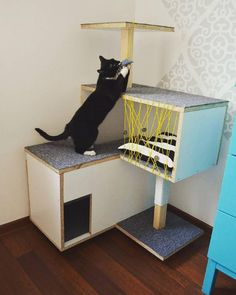 scratching post, cat, stuff for cats, design for cat, drapak, domek dla kota, Viikuna, yellow,  viikuna.cat@gmail.com