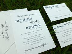 Caroline Wedding Suite  SAMPLE by dhfitzgeralddesigns on Etsy, $3.00