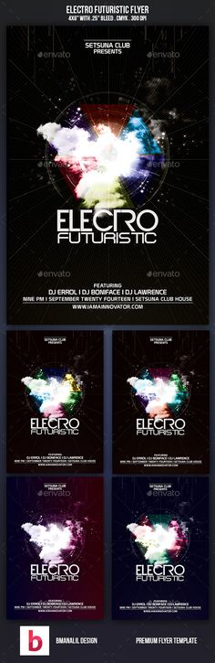 Trance Electro Party Flyer  Party Flyer Electro Music And Flyer