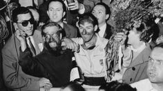 Stirling Moss wins the 1955 Millie Migdalia.