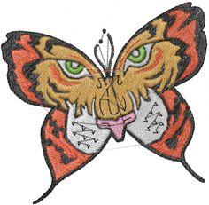 Tiger Butterfly Embroidery Design | AnnTheGran