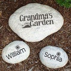 Grandma's Garden stones...