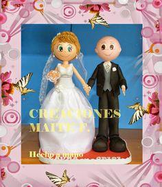 FOFUCHAS. Manualidades y Creaciones Maite: FOFUCHA Y FOFUCHO NOVIOS con traje boda.