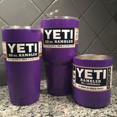 Powder Coated Yeti Ramblers by TheDeenTeam15 on Etsy