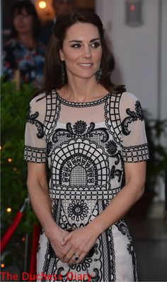Kate Middleton Wears Temperley London in New Delhi