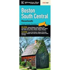 Universal Map Boston South Central Massachusetts Fold Map (Set of 2)