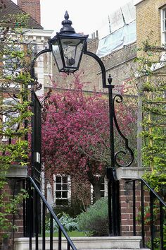Near Temple Church, London; would ❤レo√乇 ღ...❥  a downsized version of this with the scrolled 'H', & address numbers on gate door; Add an owl shilouette to deter bird poo factor:)...>:K.A.H.