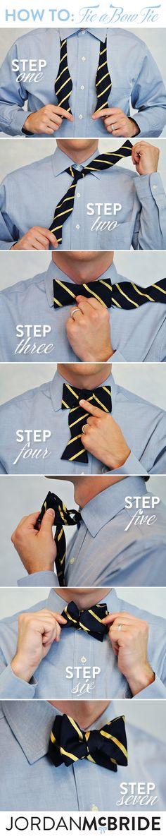 HOW TO: Tie a Bow Tie // www.jordanmcbride.com