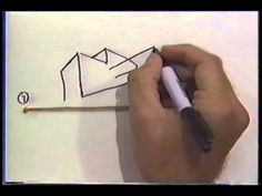 The Draw Squad! - YouTube  two point perspective with rubber band guide - very cool!