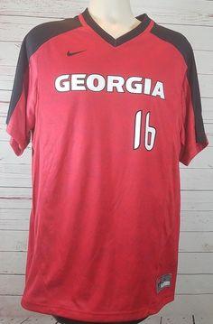 4e96cad045b06 Georgia Bulldogs Nike Men s Baseball Jersey Large DQT Vapor Game Top  16  NCAA