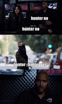 "Hunter no #Marvel Agents of S.H.I.E.L.D. #AoS #AgentsofSHIELD 3x06 ""Among Us"""