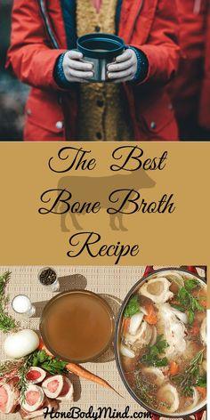 51 Ideas For Soup Broth Recipes Beef Bone Broth Crockpot, Best Bone Broth Recipe, Slow Cooker Bone Broth, Chicken Bone Broth Recipe, Homemade Bone Broth, Beef Broth, Bone Broth Paleo, Recipe Chicken, Bone Marrow Broth
