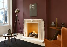 Manteau de cheminée traditionel / en marbre THE HULANICKI ART DECO by Barbara Hulanicki Chesney lire l'article complet ici by geofalexapo. Art Deco Fireplace, Fireplace Design, Fireplace Mantles, Bauhaus, Fireplaces Uk, Barbara Hulanicki, Living Spaces, Living Room, Fireplace Surrounds