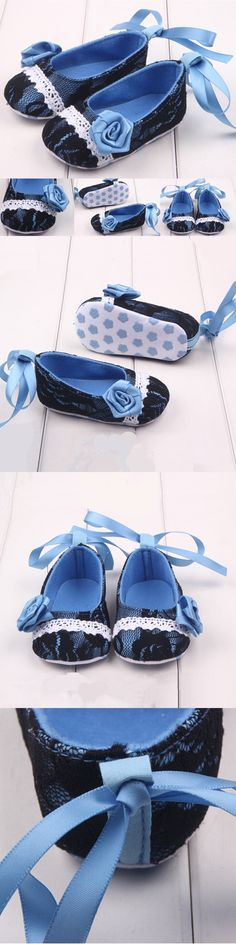 New Infant Toddler Newborn Baby Shoes Babygirl Lace Flower Shoe Kids Soft Bottom Anti-slip Shoes 0-18 months
