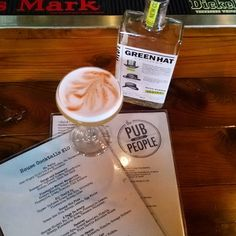 At The Pub and the People having a Honey Gin Fizz made perfectly by Matt. What a great local bar. by dcdistillers