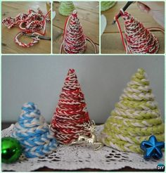 Crochet Christmas Tree Free Patterns for Holiday Decoration Christmas Items, Christmas Projects, Christmas Holidays, Christmas Things, Christmas Goodies, Crochet Christmas Decorations, Crochet Christmas Trees, Christmas Tree Ornaments, Adventure Time Crochet