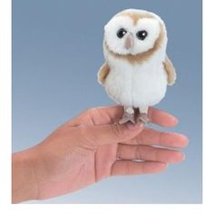 Folkmanis Puppet Mini Barn Owl $7.83  I want one, since D won't let me capture a real one here. lol.