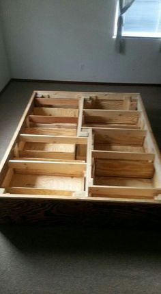 All the pieces locked together with drawers in place.