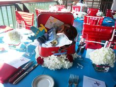 """Photo 32 of Airplanes & Clouds / Baby Shower/Sip & See """"Come Fly with Me"""" Kylie Baby Shower, Baby Shower Drinks, Best Baby Shower Gifts, Shower Party, Baby Shower Parties, Baby Boy Shower, Airplane Baby Shower Cake, Vintage Airplane Party, Transportation Party"""