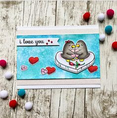 Your Next Stamp:  Penguin Love stamp and die sets  #yournextstamp
